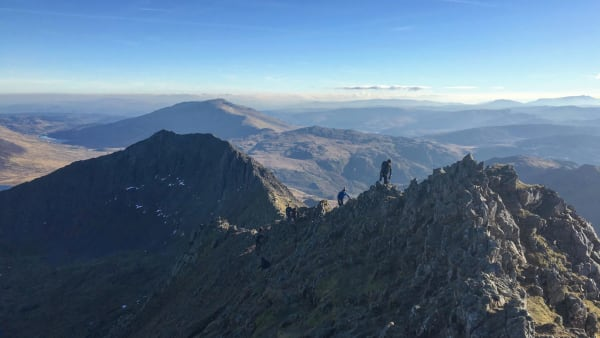 Crib Goch scramble to Snowdon 15 August